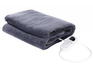 couverture chauffante bleue